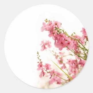 Pink Jumble Classic Round Sticker