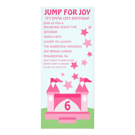 Bounce Party Invitation with nice invitation sample