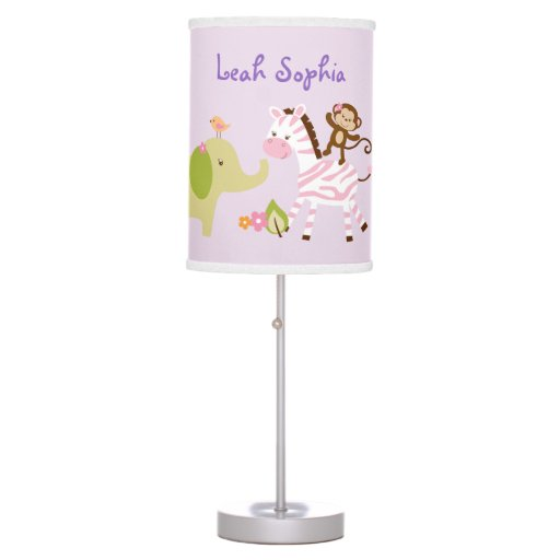 Pink Jungle Animal Desk Lamp