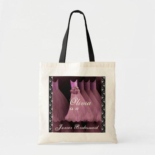 PINK Junior Bridesmaid Cotton Tote Bag