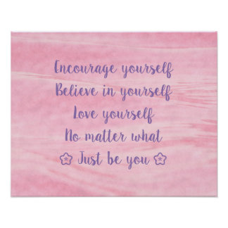 Pink Just Be You Poster