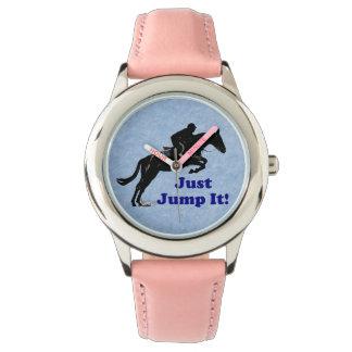 Pink Just Jump It! Equestrian Watch