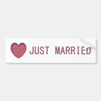 Pink Just Married Bumper Stickers