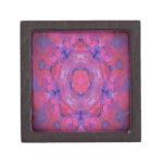 Pink kaleidoscope Design Premium Keepsake Boxes