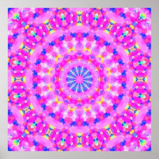 Pink Kaleidoscope Meditation Poster
