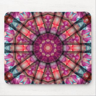 Pink Kaleidoscope Mouse Pad