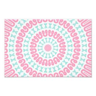 Pink kaleidoscope photographic print