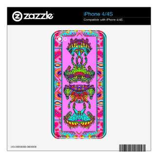 Pink Kaleidoscope Ponies Paisley Border Decal For The iPhone 4