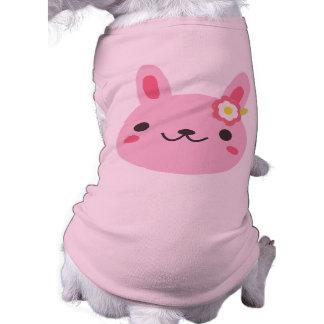 Pink Kawaii Bunny Doggie Tee