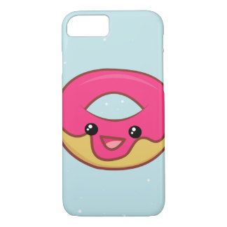 Pink Kawaii Donut, Cute Food iPhone 8/7 Case
