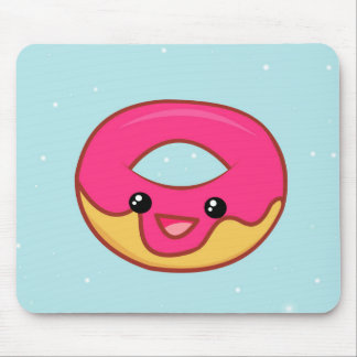 Pink Kawaii Donut, Cute Food Mouse Pad