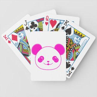 Pink Kawaii Panda Bear Bicycle Playing Cards