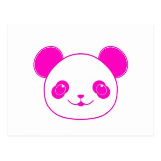 Pink Kawaii Panda Bear Postcard