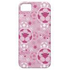 Pink Kawaii Soccer Pattern iPhone 5 Case