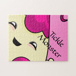 Pink Kawaii Tickle Monster Jigsaw Puzzle