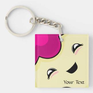 Pink Kawaii Tickle Monster Keychains