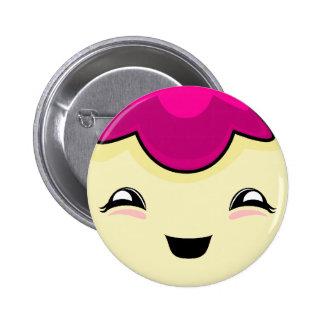Pink Kawaii Tickle Monster Pinback Button