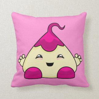 Pink Kawaii Tickle Monster Throw Pillow