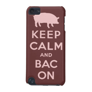 Pink keep calm and bacon iPod touch 5G covers