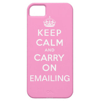 Pink Keep Calm and Carry On Emailing iPhone 5 iPhone SE/5/5s Case
