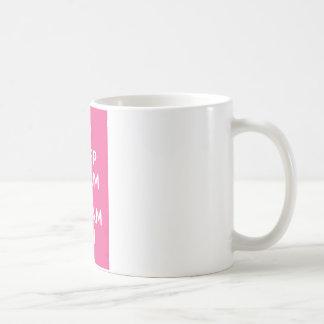 Pink Keep Calm And Dream On Classic White Coffee Mug