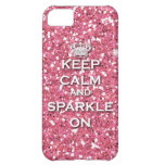Pink Keep Calm and Sparkle On IPhone5 Case Cover For iPhone 5C