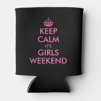 Pink keep calm can cooler for girls weekend party