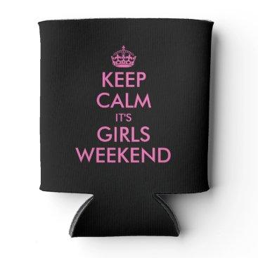 keepcalmmaker Pink keep calm can cooler for girls weekend party