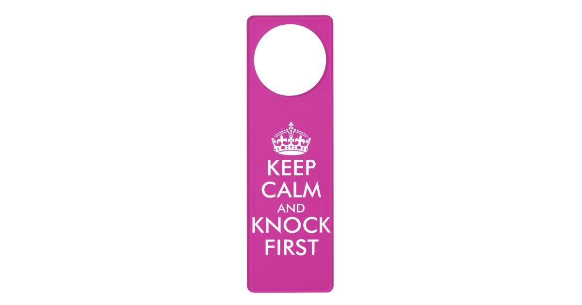 Pink Keep Calm Door Hangers For Girls Bedroom Zazzle Com