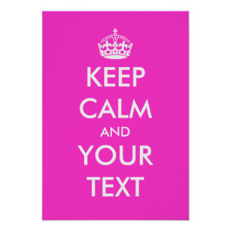 Pink keep calm poster template