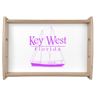 Pink Key West Sailing Serving Tray