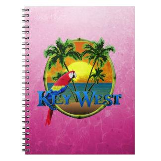 Pink Key West Sunset Notebook