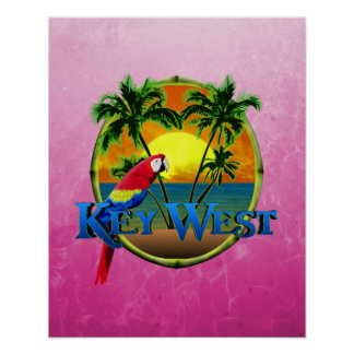 Pink Key West Sunset Print