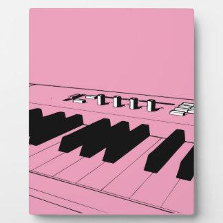 Pink Keyboard Display Plaques