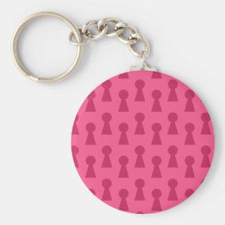 Pink keyhole pattern keychains