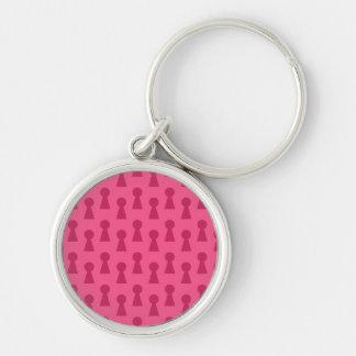 Pink keyhole pattern key chains
