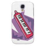 Pink Keytar portable 80s keyboard piano graphic Galaxy S4 Case