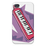 Pink Keytar portable 80s keyboard piano graphic iPhone 4/4S Case