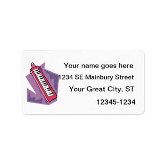 Pink Keytar portable 80s keyboard piano graphic Label