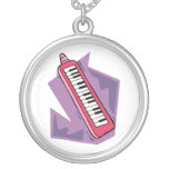 Pink Keytar portable 80s keyboard piano graphic Jewelry