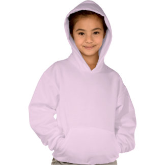 Pink Kids   Sports Jersey Design Hooded Sweatshirt