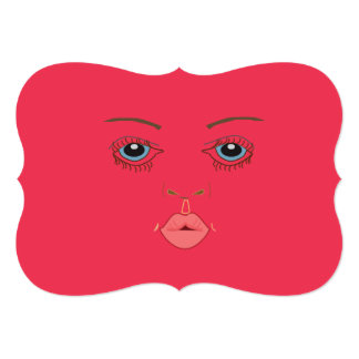 Pink kissable fancy 5x7 Invitation