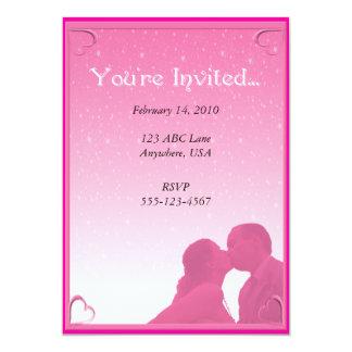 "Pink Kisses Party Invitation 5"" X 7"" Invitation Card"