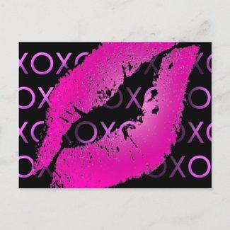 Pink Kisses postcard
