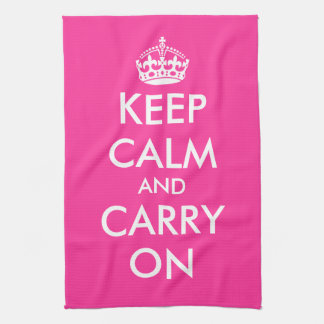 Pink kitchen towel   Keep calm and carry on