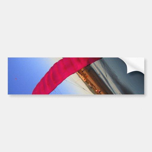 Pink Kite Bumper Sticker