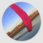 Pink Kite Round Stickers