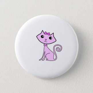 pink kitty. button