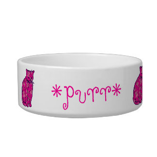 Pink Kitty Cat Bowl