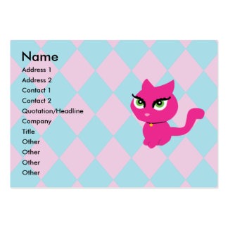 Pink Kitty Cat Business Cards